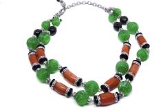 Collana arancio e verde